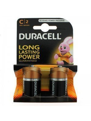 Duracell Plus Power Alkaline Batteries - C (1.5 V)