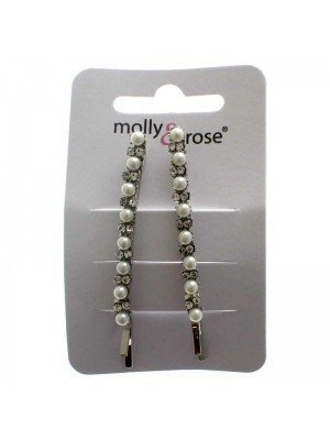 Molly & Rose Silver Hair Slides