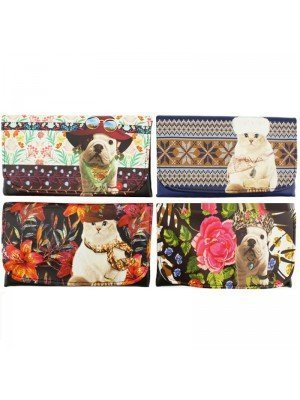 Wholesale Champ Teo Jasmin Cat & Dog Design Rolling Pouches - Assorted