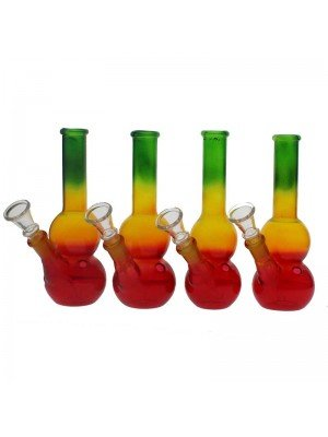 Glass Bong - Assorted Design - 7 Inch (Assorted Colours)