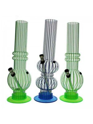 Acrylic Bong Assorted Design - 12 Inch (Assorted Colour)