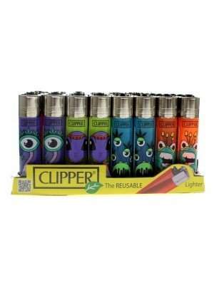 Clipper Reusable Lighter - Monsters (Assorted Designs)