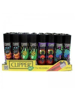 Clipper Reusable Lighter - Mushrooms (Assorted Designs)
