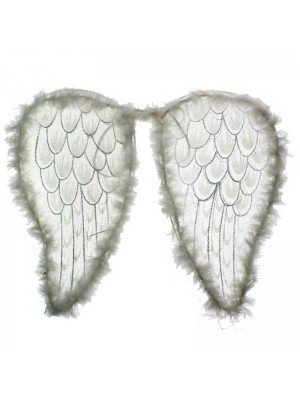 White Net Angel Wings - 46x36cm