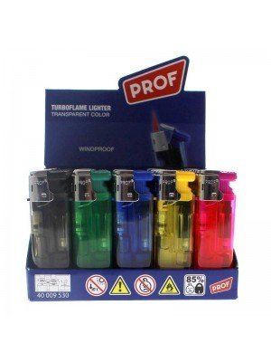 PROF Turbo Flame Lighter - Assorted Colours