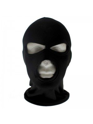 Thin Three Holes Balaclava - Black