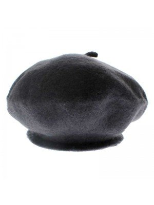 Ladies Wool Beret Hat - Grey