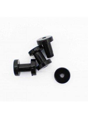 Wholesale Stainless Steel Fake Illusion Plug -Black 8mm