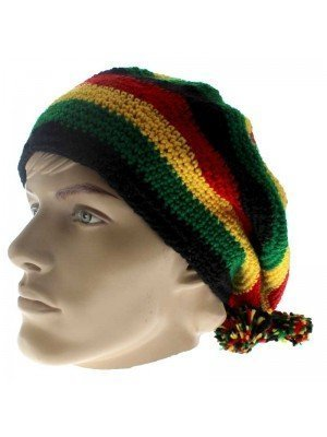 Unisex Knitted Rasta Hat - Design 2