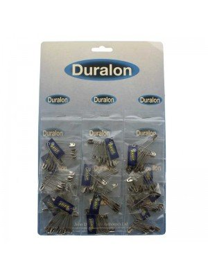 Duralon Silver Safety Pins