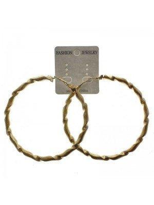 Gold Hoop Earrings - 9cm