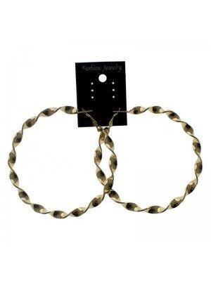 Gold Hoop Earrings - 8cm
