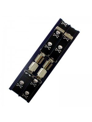 Men's Braces Skulls Design - 25mm Wide