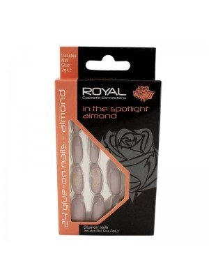 wholesale Royal Cosmetics 24 Glue-On Nail Tips - In The Spotlight Almond
