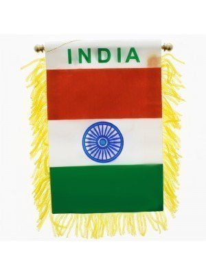 India Mini Banner Flag - 10cm x 13cm