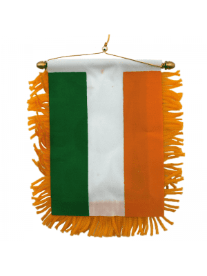 Ireland Flag - Mini Car Banner (12cm by 11cm)