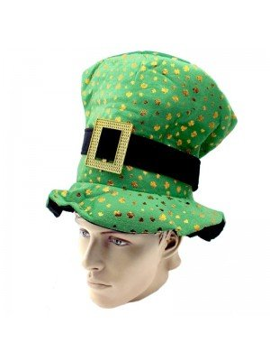 Irish Topper Hat with Buckle - Shamrock Design