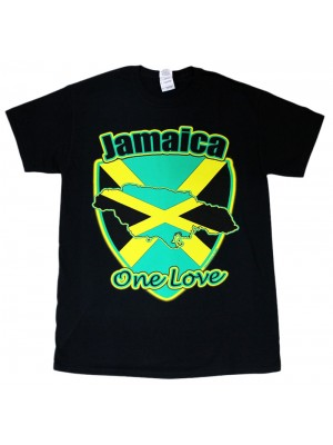 Jamaica One Love Black T-Shirt