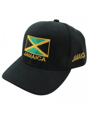 Jamaica Flag Baseball Cap - Black