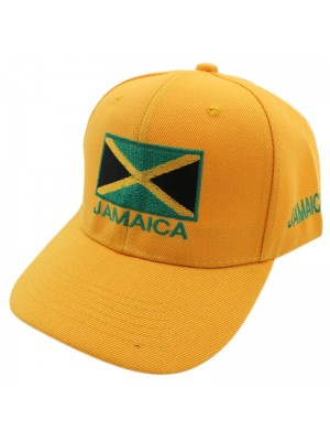 Jamaica Flag Baseball Cap - Yellow