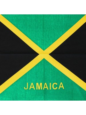 Jamaica Flag Print Bandanas (With Writing)