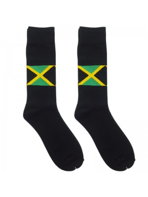 Jamaica Flag Work Socks - Black