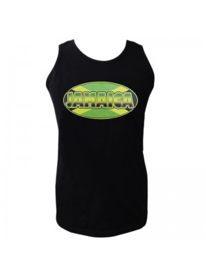 Jamaica Print Black Vest