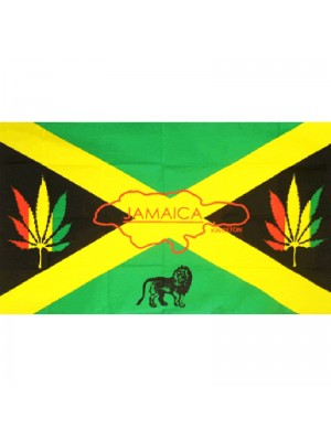 Jamaica Reggae Flag - 5ft x 3ft