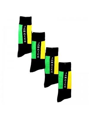 Jamaican Flag Design Long Hose Socks
