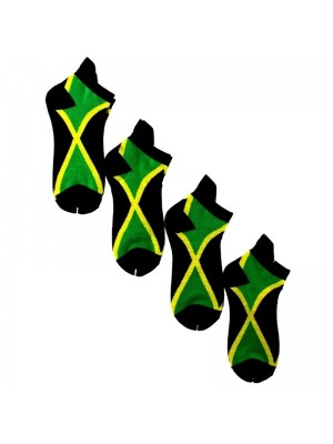 Jamaican Flag Design Trainer Socks
