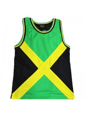 Jamaican Flag  Mesh Top Vest