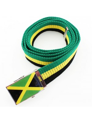 Men's Canvas Belt - Jamaican Flag
