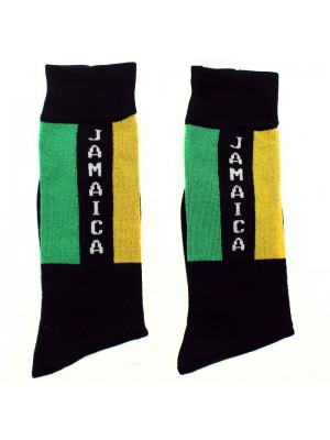 Jamaican Flag Design Long Hose Socks