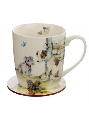 Wholesale Jan Pashley Dogs Porcelain Mug & Coaster Set