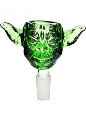 Wholesale Jaxx USA 'Loader' Glass Cone - Green Man (14.4 mm)