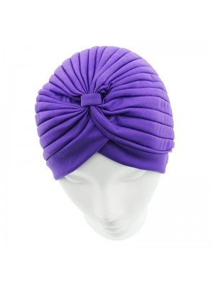 Jersey Turban Hat - Purple