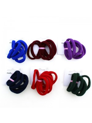 Jersey Fabric Elastics - Assorted Colours