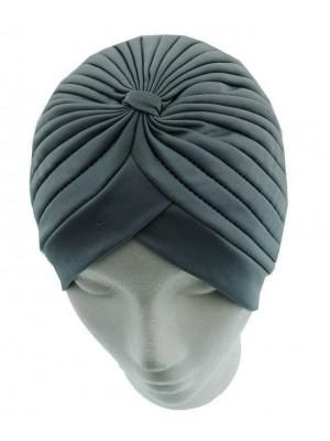 Jersey Turban Hat - Dark Grey