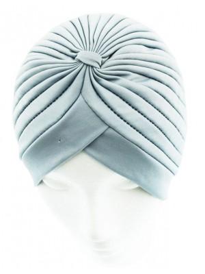 Jersey Turban Hat - Light Grey