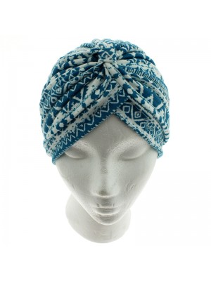 Jersey Turban Hat - Aztec Print (Assorted Colours)
