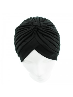 Jersey Turban Hat - Black
