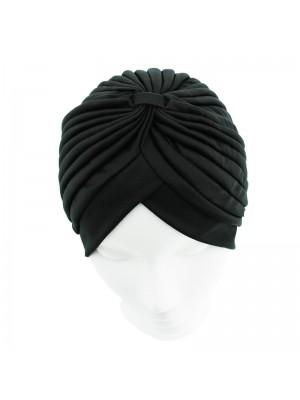 Jersey Turban Hat - Black