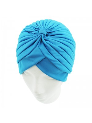 Jersey Turban Hat - Light Blue
