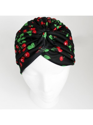 Jersey Turban Hat - Cherry Design