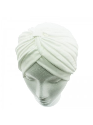 Jersey Turban Hat - White