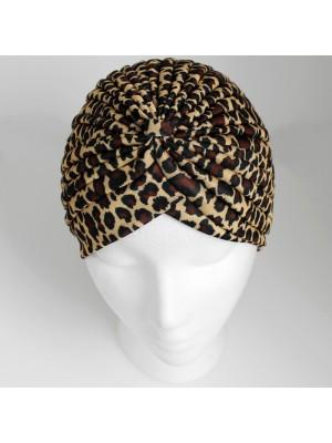 Jersey Turban Hat - Leopard Print
