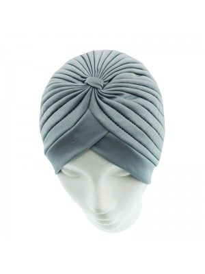 Jersey Turban Hat - Light Grey