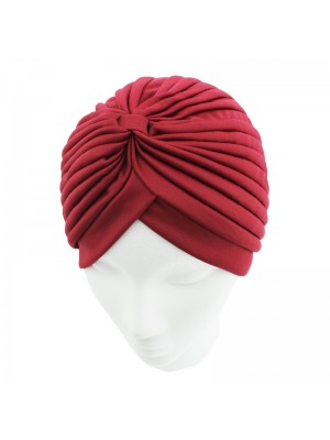 Jersey Turban Hat - Ruby Red