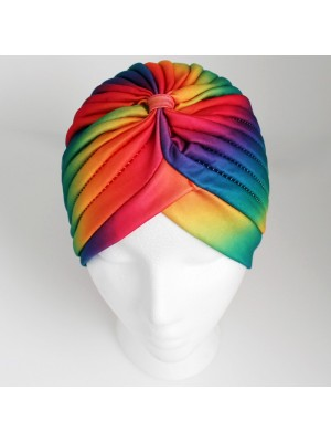 Jersey Turban Hat - Rainbow