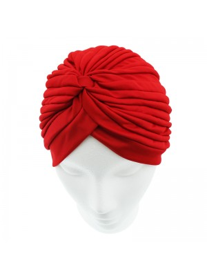 Jersey Turban Hat - Red